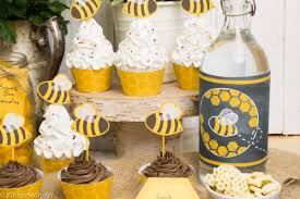 Charming MotherToBee Baby Shower Vintage Style  Hostess With Bumble Bee Baby Shower Party Favors