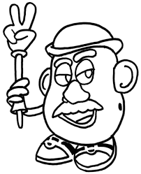 Small Picture Mr Potato Head Peace Toy Story Coloring Pages Boys Coloring