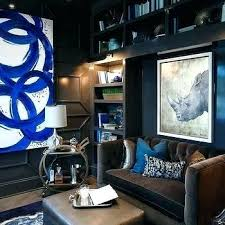 cool office art. Modern Office Wall Art Ideas Contemporary Black Paneled With Blue Accents Cool A
