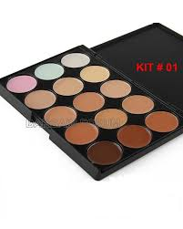 15 colors concealer palette kit with brush face makeup contour cream palette 1