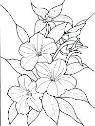 Images Of Coloring Pages Of Flowers Free Spring Flower Coloring