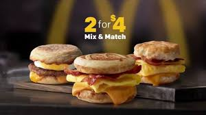 mcdonald s breakfast dollar menu. Modren Dollar McDonaldu0027s 2 For 4 Breakfast Sandwiches TV Commercial U0027Mix U0026 Matchu0027   ISpottv In Mcdonald S Dollar Menu A