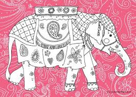 Small Picture Elephant Colouring Pages