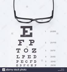 Eyesight Test Chart With Glasses Studio Shot 1 To 1