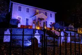 haunted house lighting ideas. view in gallery graveyard front of house on a hill haunted lighting ideas l