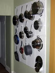 Pegboard Kitchen Pots And Pan Storage And Organization With Wall Control White