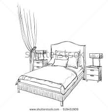 bed drawing.
