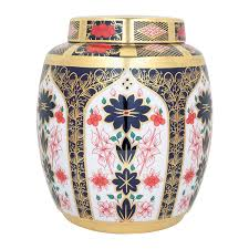 old imari solid gold band ginger jar large royal crown derby