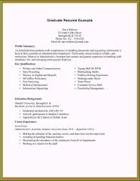 Phenomenal Sample Resume With No Work Experience College