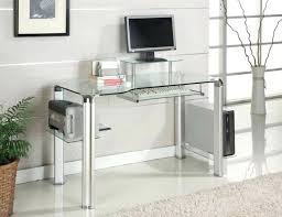 extraordinary small glass desk for artofmind info computer table clear l shaped condo office within design ikea home uk with drawer clock lamp canada
