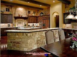 Kitchens decorating ideas Rustic Stupendous Stone Base Bar Island Design Using Country Kitchen Decor With Archway Also Light Yellow Wall Kyeanorg Kitchen Stupendous Stone Base Bar Island Design Using Country