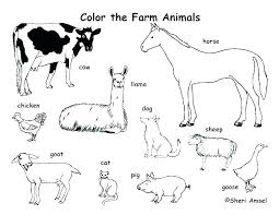 Farm Animal Coloring Pages For Preschoolers Farm Animals Coloring