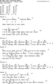 Lay Me Down Chord Chart Johnny Cash Song Bridge Over Troubled Water Lyrics And