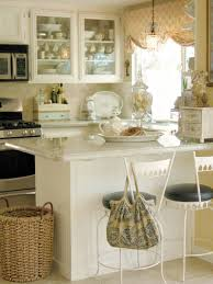 Kitchen:Country Kitchen With Shabby Chic Decor Also High Window Ceiling  Impressive Retro Kitchen With