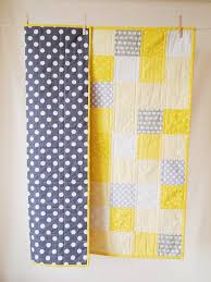 BABY QUILT Modern Bright Yellow and Grey Baby Quilt | Quilt modern ... & BABY QUILT Modern Bright Yellow and Grey Baby Quilt Adamdwight.com
