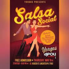 Salsa Social Yorgos Tonight Lancaster