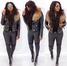 jacket fur jacket leather jacket black leather jacket yello yellow purple black jacket faux fur rac fur wheretoget
