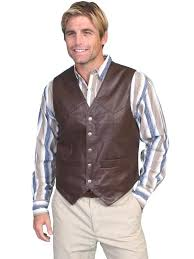 scully men s leather vest lambskin soft touch snap front brown big