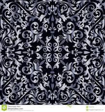 Zilveren Barok Patroon Vector Illustratie Illustratie Bestaande Uit