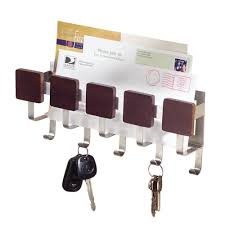 Wall Key Holder Interdesign Brushed Stainless Steel Formbu Wall Mount Key And Mail
