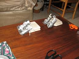 diy cool and little dog sneakers or boots from duct tape