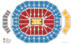 Yum Center Detailed Seating Chart Kfc Yum Center University Of Louisville Louisville Tickets Schedule Seating Chart Directions