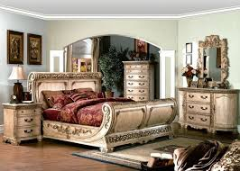 Cannes Traditional Sleigh Bed White Luxury Bedroom Furniture ...