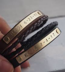 couple bracelets custom leather anniversary bracelet leather bracelet anniversary bracelet customized bracelet bracelets