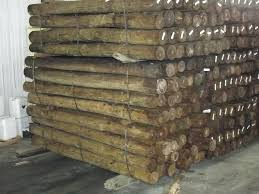 6 by 6 posts 6 x 8 pressure treated yellow pine round corral fence posts wood