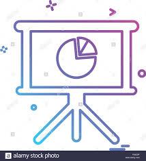 Pie Chart Board Design Vector Stock Vector Art