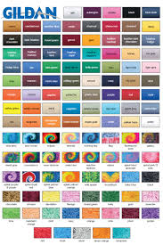 Gildan Color Chart 2019 Gildan G230 Adult Ultra Cotton Gildan Swatches