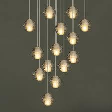 m free modern led g4 pendant light meteor shower droplight 90 265v dia10cm crystal