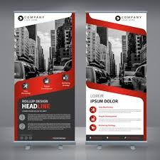 flyer vectors photos and psd files roll up template design