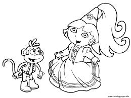 Dora Printable S Princess3725 Coloring Pages Printable
