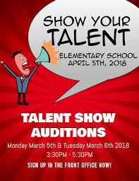 Talent Show Template Postermywall