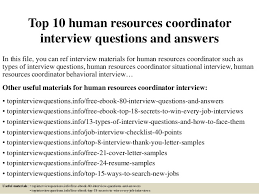 interview for hr position questions and answers top 10 human resources coordinator interview questions and answers 1 638 jpg cb 1428283410