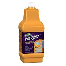 wetjet 42 oz antibacterial floor cleaner refill with febreze citrus and light scent