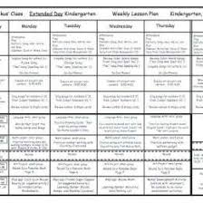 lesson plan template for kindergarten 9 week lesson plan template free printable preschool weekly lesson