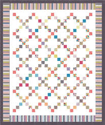 Moda Fabrics Free Patterns Mesmerizing Gardenvale Chain Quilt Free Pattern On Moda Bake Shop Gardenvale