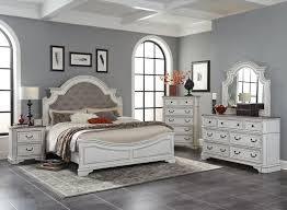 Antique White & Pine King Bedroom Set | My Furniture Place
