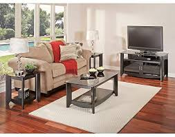 Bush Furniture Aero TV Stand And Coffee Table With End Tables