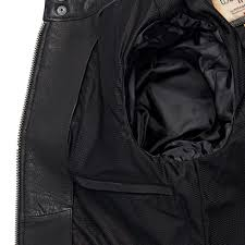 wilsons leather black vintage striped retro leather jacket for men lyst view fullscreen
