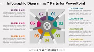 Infographic Diagram With 7 Parts For Powerpoint Presentationgo Com