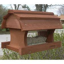 platform bird feeder plans hanging barn bird feeder yard envy