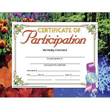 Certificates Of Participation 30 Pk 8 5 X 11 Inkjet Laser