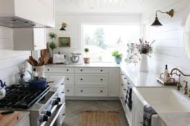 shiplap wall kitchen. shiplap kitchen: planked walls behind sink \u0026 stove wall kitchen