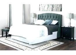 White Upholstered Headboard Full Size Of Grey Tufted Bed Frame White ...