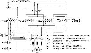 5 5 three contactor star delta connection reversing contactor circuit star delta starting main circuit