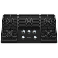 gas on glass gas cooktop in black with 5 burners including 17000 btu professional burner