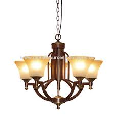 china conventional chandelier lamp antique brass iron pendant light with 3 glass shades